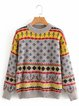 Casual Long Sleeve Crew Neck Cotton-Blend Sweater