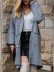 Black Cotton-Blend Long Sleeve Outerwear