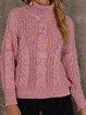Long Sleeve Cotton-Blend Sweater