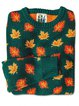 New Maple Leaf Print Round Neck Long Sleeve Sweater