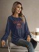 Blue Long Sleeve Sports Shirts & Tops