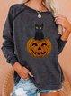 Oversized pumpkin print hoodie