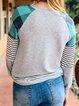 Gray Stripes Long Sleeve Shirts & Tops