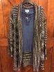 Multicolor Cotton-Blend Ombre/tie-Dye Long Sleeve Vintage Outerwear
