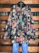 Multicolor Floral Cotton-Blend Long Sleeve Casual Shirts & Tops