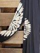 Navy Blue Long Sleeve Cotton-Blend Outerwear