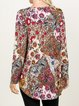 Multicolor Shift Long Sleeve Shirts & Tops