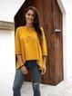 Yellow Long Sleeve Paneled Shirts & Tops