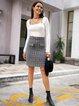Gray Paneled Skirts