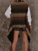 Gray Boho Shift Cotton-Blend Ombre/tie-Dye Sweater