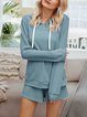 Casual Home Suit Hoodie Tops Shorts