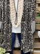 Leopard Printed Long Sleeve Outerwear