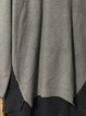 Gray Shift Casual Plain Long Sleeve Sweater