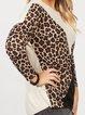 Leopard Shift Long Sleeve Shirts & Tops