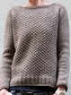 Coffee Casual Crew Neck Long Sleeve Sweater