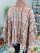 Camel Shift Vintage Cotton-Blend Checkered/plaid Sweater