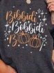 Gray Cotton-Blend Shift Casual Skull Shirts & Tops