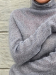 Plus size Turtleneck Solid Casual Sweater