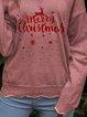 Christmas print warm casual woolen top
