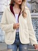 Casual Plain Hoodie Long Sleeve Outerwear