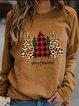 Casual Long Sleeve Printed Sweatshirt