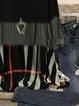 Vintage Plaid Color-block Plus Size Long Sleeve Crew Neck Casual Tops