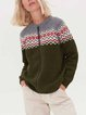 Casual Zipped Knitted Woolen Sweater