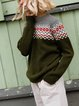 Casual Round Neck Knitted Woolen Pullover Sweater