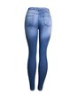 European and American foreign trade women's mid-waist slim-fit stretch double-sided pair of jeans women's trousers pencil pants