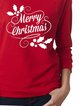 Christmas Print Round Neck Casual Sweatshirt Tops