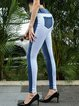 Autumn and winter new style European and American thickened simple feet jeans women's high waist slimming pencil pants slim multi-button trousers