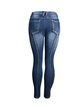 jeans new mid-waist stretch split trousers European and American fashion high-quality washed ankle jeans