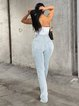2020 hot spot European and American fashion women's jeans trousers
