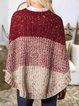 Red Vintage Geometric Cotton-Blend Sweater