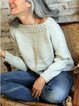 Solid Color Casual Long-sleeved Knit Sweater
