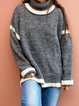 Loose Knit Pullover High Neck Chunky Sweater