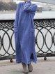 Plain Cotton Long Sleeve Dresses