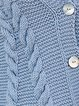 Blue Casual Knitted Acrylic Sweater