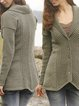 Deep Green V Neck Knitted Casual Sweater