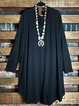 V-neck Long Sleeves Soft Touch Dress or Long Tunic