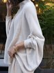 White Knitted Long Sleeve Sweater