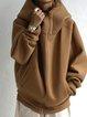 Cocoon Casual Plain Raglan Sleeve Outerwear