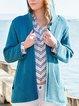 Aqua Blue Long Sleeve Cotton Sweater
