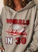 Ladies wear 30 crime movie and TV fan printed sweatshirts