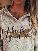 Hooded ladies TV series casual printed loose sweater