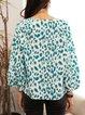Green Geometric Casual Shirts & Tops