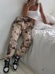 Knitted print stretch comfort trousers
