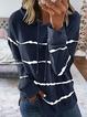 Cotton-Blend Hoodie Long Sleeve Sweatshirt