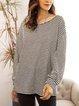 Black Long Sleeve Cotton-Blend Shirts & Tops