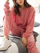 Pink Casual Paneled Cotton-Blend Suits
